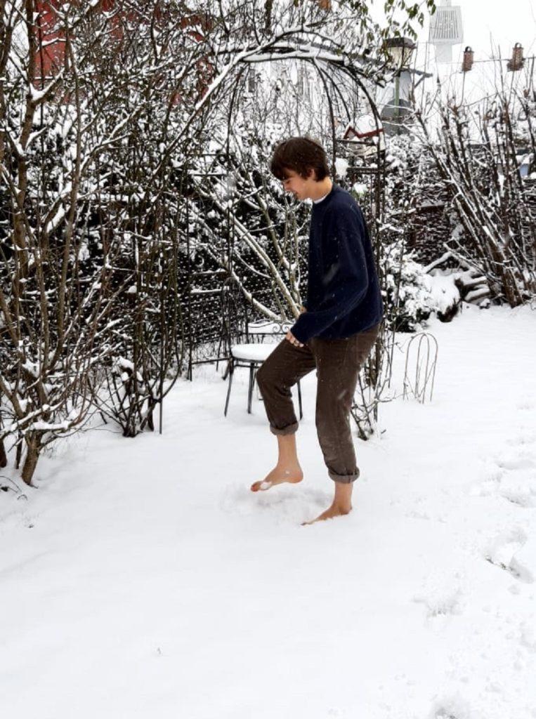 Schneetreten